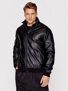 PROSTO. PROSTO. Kožená bunda KLASYK Skeen2 1031 Čierna Regular Fit