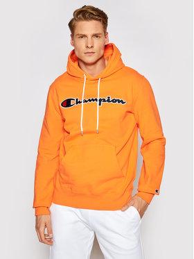 Champion Champion Mikina Satin Script Logo Terry Hoodie 214183 Oranžová Comfort Fit