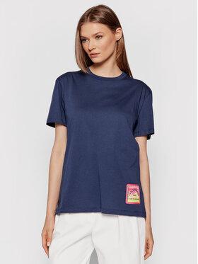KARL LAGERFELD KARL LAGERFELD T-Shirt 215W1708 Tmavomodrá Relaxed Fit