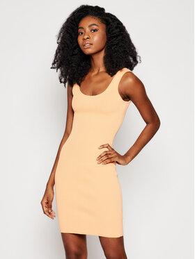 Guess Guess Sukienka dzianinowa W1GK85 Z2U00 Pomarańczowy Slim Fit