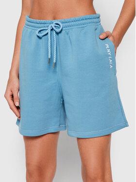 PLNY LALA PLNY LALA Sportiniai šortai Shorty PL-SI-SH-00008 Mėlyna Loose Fit