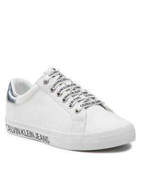 Calvin Klein Jeans Calvin Klein Jeans Sneakersy Lowprofile Laceup Sneaker 2 YW0YW00396 Biela