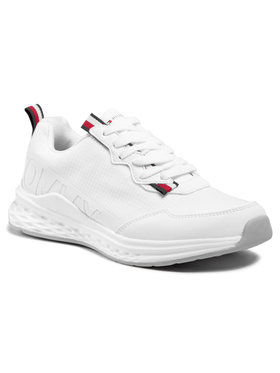Tommy Hilfiger Tommy Hilfiger Sneakersy Low Cute Lace-Up Sneaker T3B4-31100-1171 S Biały
