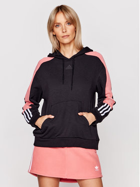 adidas adidas Μπλούζα Essentials Logo Colorblock GL1442 Μαύρο Regular Fit