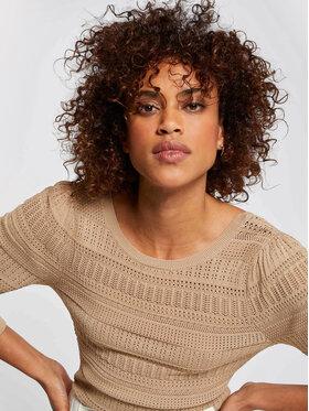 Morgan Morgan Sweter 211-MDALI Beżowy Slim Fit