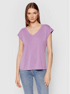 Vero Moda Vero Moda T-Shirt Filli 10246928 Fialová Regular Fit