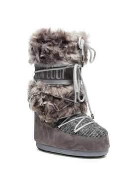Moon Boot Moon Boot Snehule Wool Fur 14026300002 Sivá