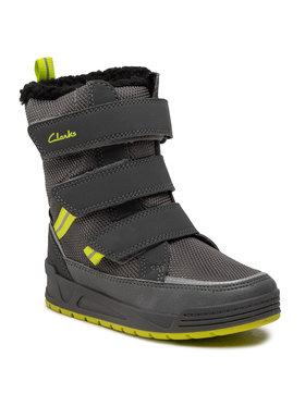 Clarks Clarks Cizme de zăpadă Jumper Three T 261558877 Gri