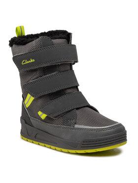 Clarks Clarks Μπότες Χιονιού Jumper Three T 261558877 Γκρι