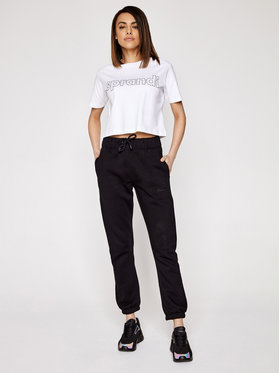 Sprandi Sprandi T-Shirt SS21-TSD001 Bílá Cropp Fit