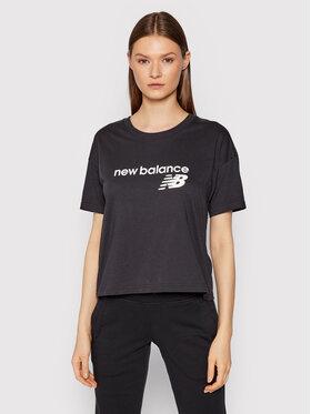New Balance New Balance T-Shirt WT03805 Czarny Relaxed Fit
