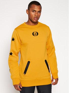 Volcom Volcom Sweatshirt Let It Storm Crew G4652100 Gelb Regular Fit