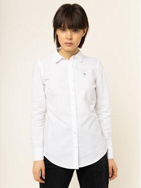 Tommy Jeans Tommy Jeans Πουκάμισο Oxford DW0DW07808 Λευκό Slim Fit