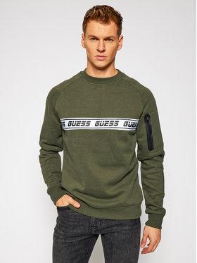 Guess Guess Bluză U0BA36 FL02J Verde Regular Fit