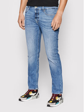 Guess Guess Jeansy Angels M1YAN2 D4GV62 Granatowy Slim Fit