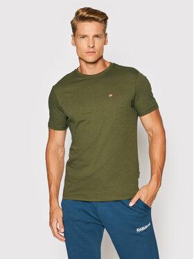 Napapijri Napapijri T-Shirt Salis C Ss 1 NP0A4FRP Zielony Regular Fit