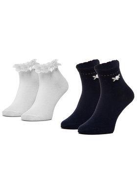 Mayoral Mayoral Sada 2 párů dětských vysokých ponožek 10787 Tmavomodrá