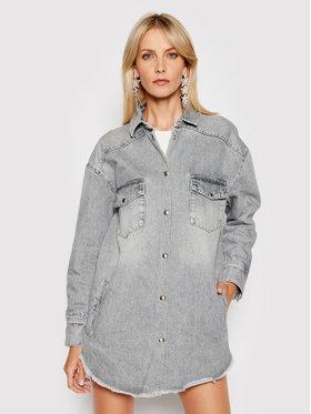 IRO IRO Jeansová bunda Ygga A0207 Šedá Oversize