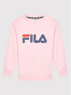 Fila Fila Суитшърт Tim Logo 688022 Розов Regular Fit