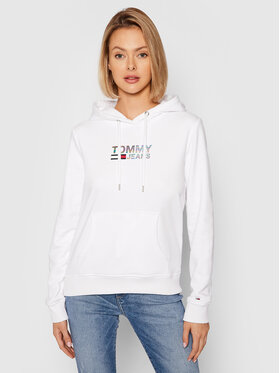 Tommy Jeans Tommy Jeans Bluza Metal Corp Logo DW0DW09247 Biały Slim Fit