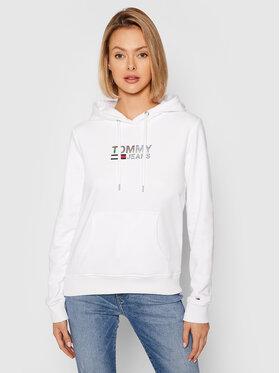 Tommy Jeans Tommy Jeans Sweatshirt Metal Corp Logo DW0DW09247 Blanc Slim Fit