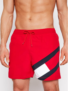 Tommy Hilfiger Tommy Hilfiger Pantaloncini da bagno Sf Medium Drawstring UM0UM02048 Rosso Slim Fit