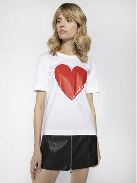 LOVE MOSCHINO LOVE MOSCHINO Tricou W4F152BM 3876 Alb Regular Fit