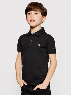 Calvin Klein Jeans Calvin Klein Jeans Polo Monogram Chest IB0IB00733 Czarny Regular Fit