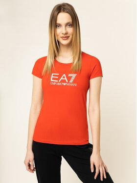 EA7 Emporio Armani EA7 Emporio Armani T-Shirt 8NTT63 TJ12Z 1457 Rot Regular Fit