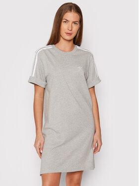 adidas adidas Sukienka codzienna adicolor Classics Roll-Up Sleeve H06775 Szary Relaxed Fit
