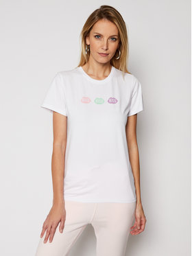 PLNY LALA PLNY LALA T-shirt Petite Kiss PL-KO-FF-00024 Bijela French Fit