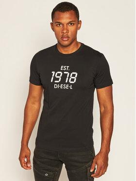 Diesel Diesel T-Shirt T-Diegos-X42 A00297 0HAYU Czarny Regular Fit