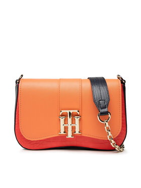 Tommy Hilfiger Tommy Hilfiger Handtasche Th Lock Crossover Croc Mix AW0AW10243 Orange