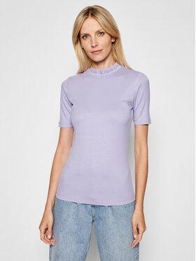 Calvin Klein Jeans Calvin Klein Jeans Bluzka Essentials J20J215230 Fioletowy Regular Fit