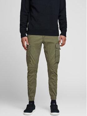 Jack&Jones Jack&Jones Spodnie materiałowe Paul Flake 12141844 Zielony Tapered Fit