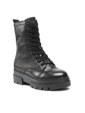 Tommy Hilfiger Tommy Hilfiger Bakancs Monochromatic Lace Up Boot FW0FW05946 Fekete