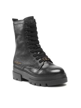 Tommy Hilfiger Tommy Hilfiger Bottes de randonnée Monochromatic Lace Up Boot FW0FW05946 Noir
