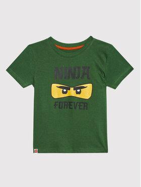 LEGO Wear LEGO Wear Тишърт 12010188 Зелен Regular Fit