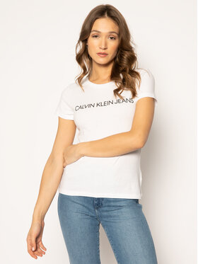 Calvin Klein Jeans Calvin Klein Jeans T-Shirt Institutional J20J207879 Bílá Regular Fit