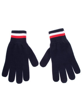 Tommy Hilfiger Tommy Hilfiger Pánske rukavice Corporate Gloves AM0AM06586 Tmavomodrá
