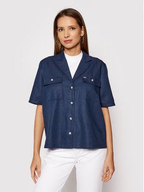 Tommy Jeans Tommy Jeans Camicia Bowling DW0DW09942 Blu scuro Regular Fit