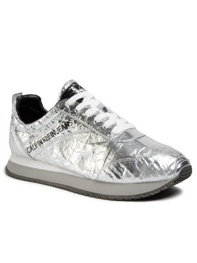 Calvin Klein Jeans Calvin Klein Jeans Sneakers Jerrold Metallic Crinkle S0582 Argintiu