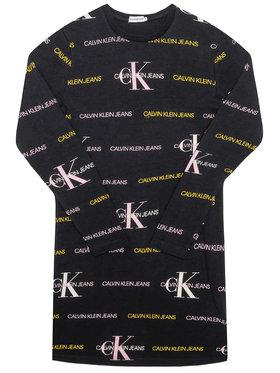 Calvin Klein Jeans Calvin Klein Jeans Každodenní šaty Mix Logo IG0IG00606 Černá Regular Fit