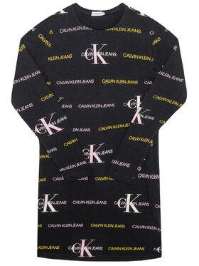 Calvin Klein Jeans Calvin Klein Jeans Robe de jour Mix Logo IG0IG00606 Noir Regular Fit