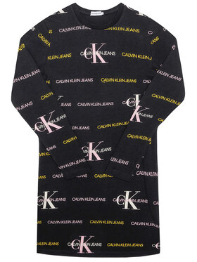 Calvin Klein Jeans Calvin Klein Jeans Sukienka codzienna Mix Logo IG0IG00606 Czarny Regular Fit