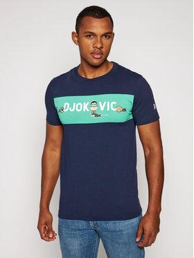 Lacoste Lacoste T-Shirt NOVAK DJOKOVIC TH7541 Granatowy Regular Fit