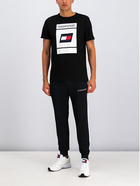 Tommy Sport Tommy Sport Póló Graphic S20S200193 Fekete Regular Fit