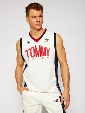Tommy Sport Tommy Sport Trikó Basketball Iconic S20S200501 Bézs Regular Fit