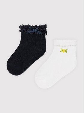 Mayoral Mayoral Sada 2 párů dětských nízkých ponožek 10011 Bílá