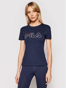 Fila Fila T-Shirt Ladan Tee 683179 Granatowy Regular Fit